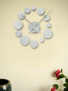 12 Silver Circles Wall Clock - Karlsson