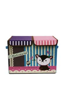 Blue And Pink Kids Toy Organizer- Double Flap (Large) - Uberlyfe