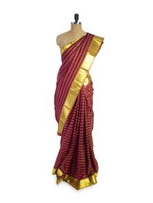 Red And Gold Saree - Pratiksha