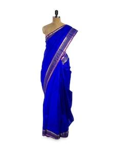 Royal Blue Saree - Pratiksha