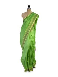 Vibrant Green Saree - Pratiksha