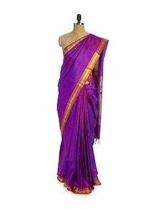 Purple Silk Saree - Pratiksha