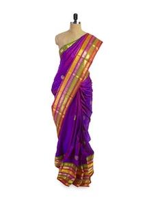 Bright Purple Saree - Pratiksha