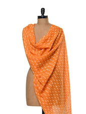 Assorted Print Pumpkin Orange Dupatta - Sakrip
