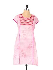 Delicate Pink Long Kurta - Aaboli