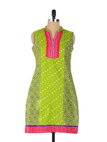 Jaipur Style Green Long Kurta - Aaboli