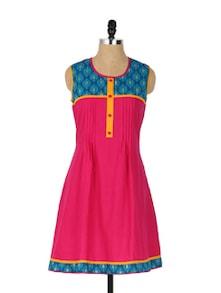 Trendy A-Line Pink Kurti - Aaboli
