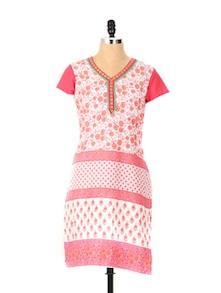 Princess Pink Printed Kurta - Aaboli
