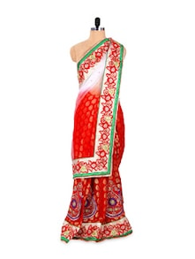 Zari Adorned Saree In Viscose And Net - Khantil