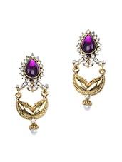Traditional Polki Dangle Earrings - Zara Deals