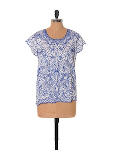 Floral Embroidery White Top - URBAN RELIGION