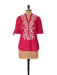 Pretty Pink Embroidered Top - URBAN RELIGION