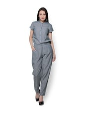 Solid Blue Jumpsuit - URBAN RELIGION
