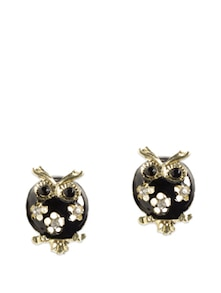 Black And Gold Owl Earrings - Miss Chase