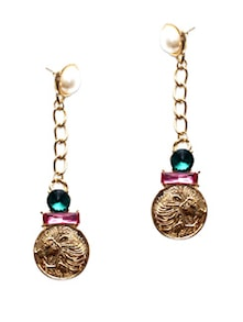 Gold And Colourful Stone Earrings - Miss Chase
