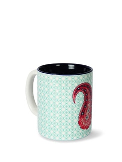 Tamara Pink Paisleys Ceramic Coffee Mug - India Circus