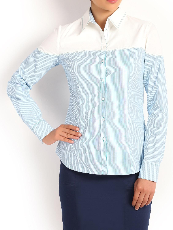 Blue And White Formal Shirt - Kaaryah