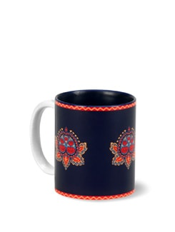 Floral Stamps Coffee Mug  - India Circus