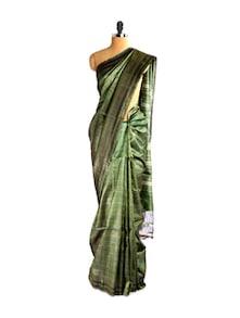 Shimmery Green Kosa Manipuri Saree - Kosabadi