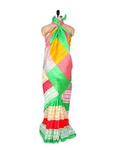 Multicoloured Art Silk Saree - Hypno Tex