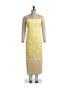 Graceful Yellow Chikankari Suit Piece - Ada
