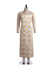 Graceful Floral Chikankari Suit Piece - Ada