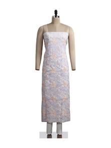 Beautiful Floral Chikankari Suit Piece - Ada