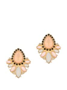 Pink Flower Stud Earrings - Fayon