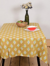 Brown Diamond Leaf Table Cover - Ocean Collections