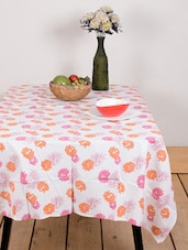 Gorgeous Small Flower Print Table Cover - Ocean Collections