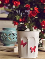 Butterfly Embellished Planter -  online shopping for Pots & Planters
