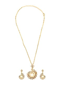 Pearl Gold Pendant Set - KSHITIJ