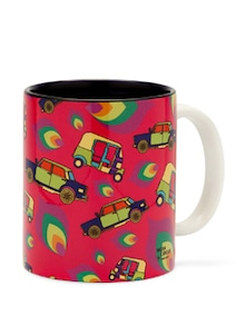 Kitschy Taxi-Auto Coffee Mug - India Circus