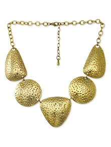 Gold Glazed Junk Necklace - CIRCUZZ