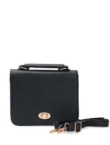 Stylish Black Sling Bag - Toniq