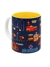 Mumbai Highlights Printed Ceramic Coffee Mug - The Elephant Company
