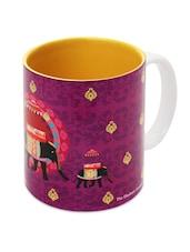 Elephant Printed Ethnic Ceramic Coffee Mug - The Elephant Company