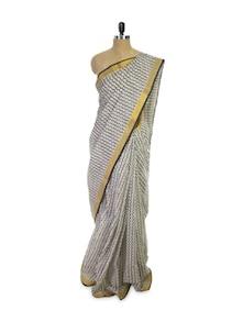 Block Printed Kerala Cotton Saree - Spatika Sarees