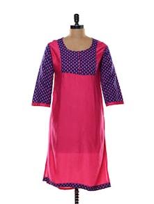 Pink Cotton Kurti - Zara Deals