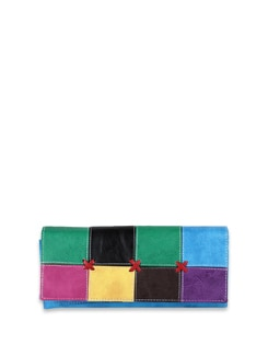 Multi Coloured Patchwork Wallet - ALESSIA 8210
