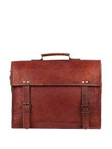 Brown Glory Leather Satchel Bag - Rustic Town