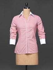 Onion Pink Formal Shirt - Kaaryah