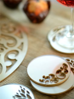 Gold Laser Cut Acrylic Coasters (Set Of 6) - Chalk N Cheese Lifestyles