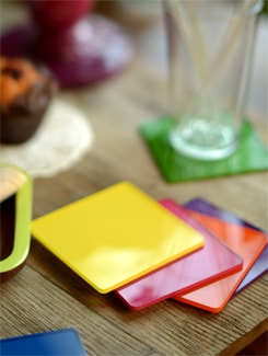 Multi Hue Acrylic Coasters (Set Of 6) - Chalk N Cheese Lifestyles