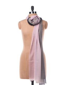 Pink, Grey And Black Gradient Silk Wool Scarf - Chalk N Cheese Lifestyles