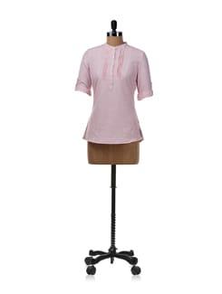 Pastel Pink Linen Shirt - Allen Solly