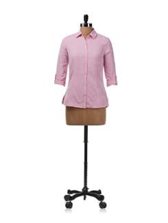 Pink Linen Shirt - Allen Solly