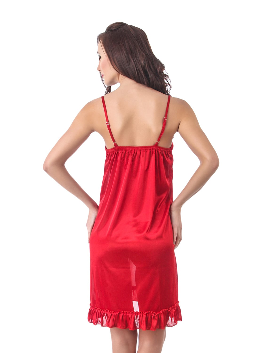 b374c5b7a1 Buy Red Short Nighty by Fasense - Online shopping for Nightwear in India