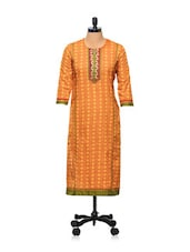 Muted Orange Printed Kurti - AFSANA