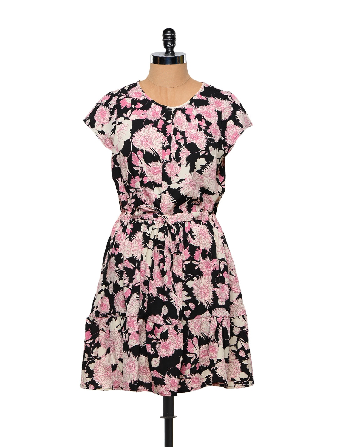 Floral Print Polyester Spring Dress - Stylechiks